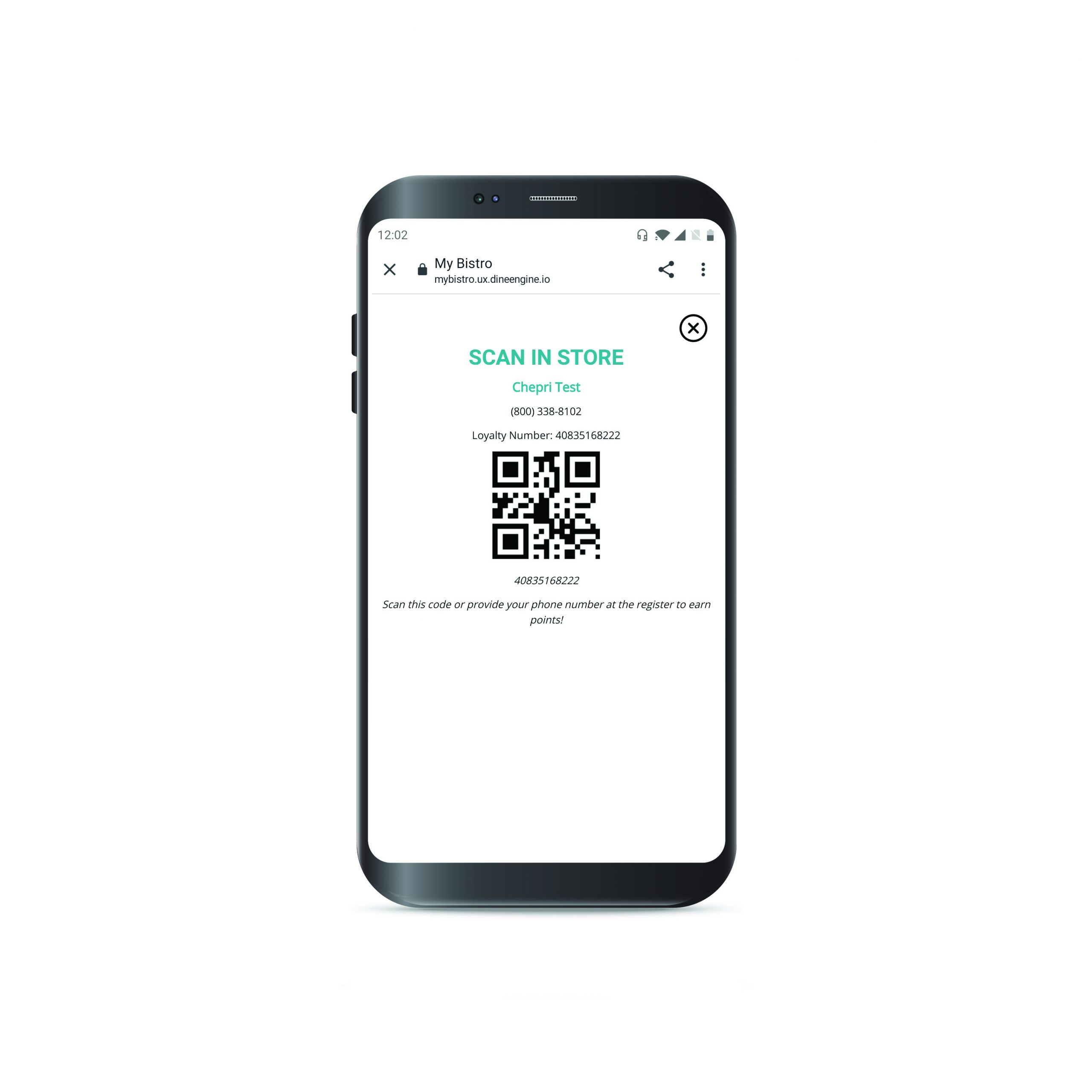 Personica Loyalty App redemption code